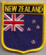 New Zealand Embroidered Flag Patch, style 07.